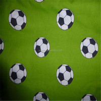 FOOTBALL Fabric Fat Quarter Cotton Craft Curtain Quilting Green