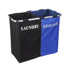 2 sorter foldable laundry basket with mesh closure
