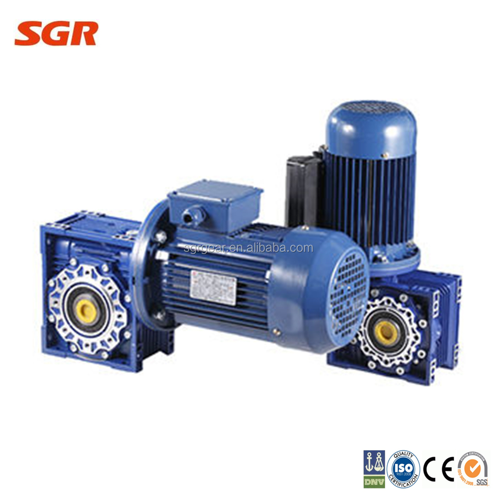 Nmrv series worm gear drive speed reducer gearbox worm for Worm gear drive motor