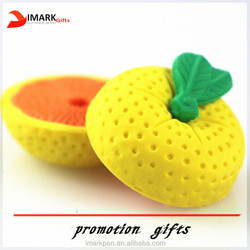 hot selling fruit and shaped vegetable funny pencil eraser
