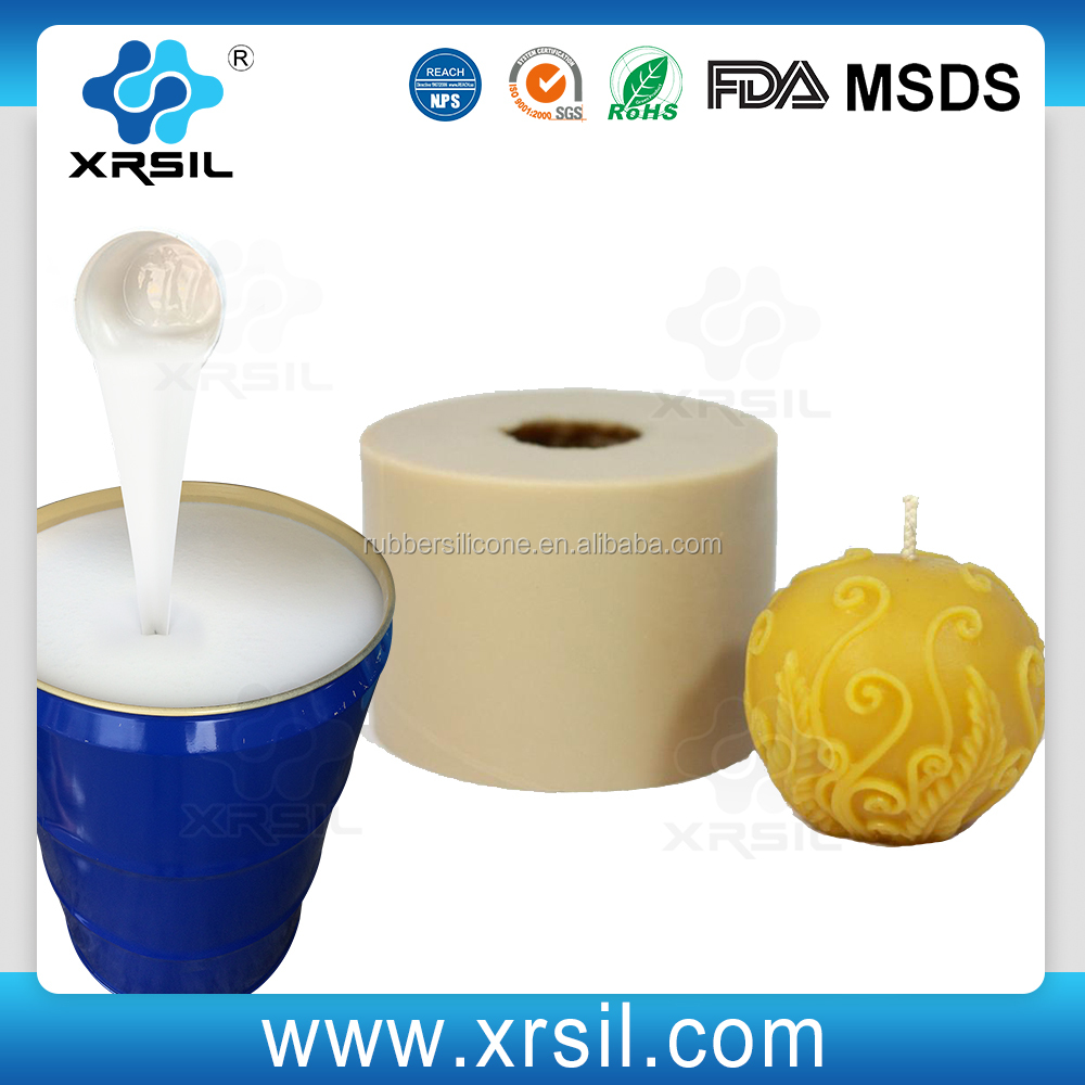Tin cure silicone rubber for Candle Soap molds making