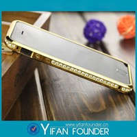 Luxury Crystal Rhinestone Diamond Bling Metal Cover case Bumper For iPhone5,for iphone 6 cases