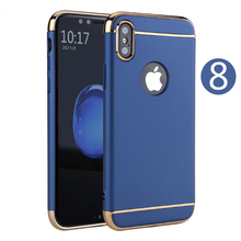 For iphone 8 case cover 2017 new product luxury 3 in 1 cell phone case for iphone 8