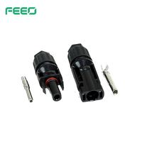 CE Low Voltage Pipe PV Terminal DC Waterproof Solar Power Conector 10mm IP67 MC4 Cable Connector
