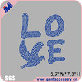 Love peace rhinestone iron on transfer designs for apparel