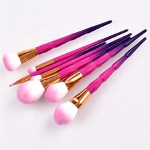 Custom 7pcs Special Matte Printing Handle Soft Synthetic Hair Makeup Brush