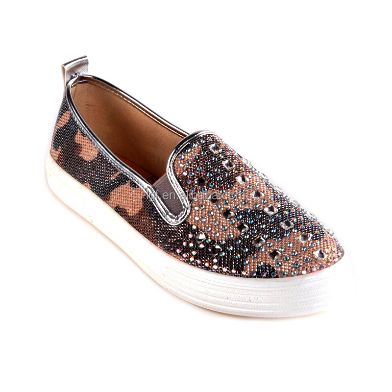 American style newest Round toe women casual shoe hot sale vulcanized canvas shoes