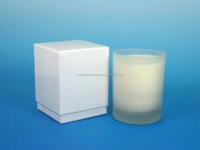 rigid set- up box for 14oz Candle Box, Two Piece chipboard boxes