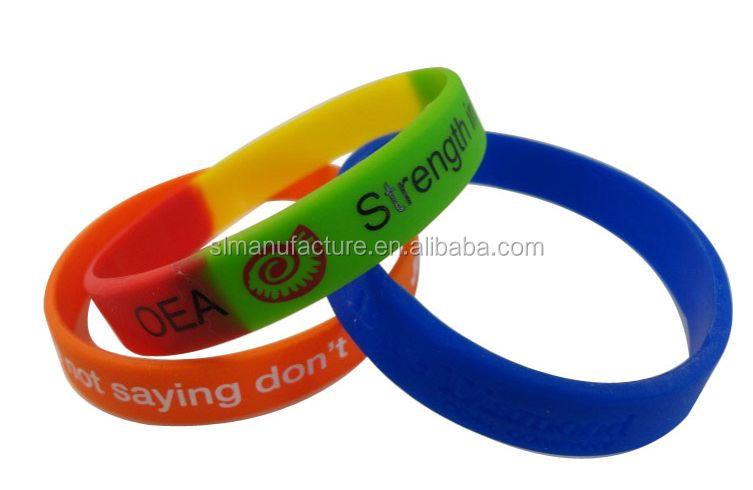 Wholesale China gift / Personalized luminous silicone bracelet