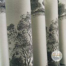 Luxury tree jacquard thick heavy living room curtains fabric