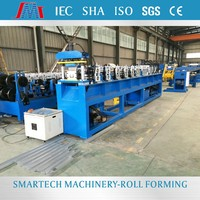 Purlin use automatic metal steel track c u shaped steel roll forming machine