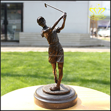 Custom Playing Golf Bronze Figure For Sport Player Statue for sale