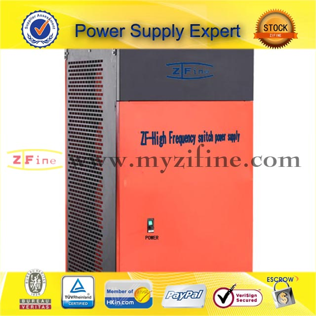 Forced air cooled switching mode dc power supplies
