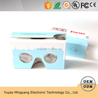 new mobile phone gift assembled portable plastic DIY VR cardboard 3d glasses virtual reality 360 video,dltalia Focus