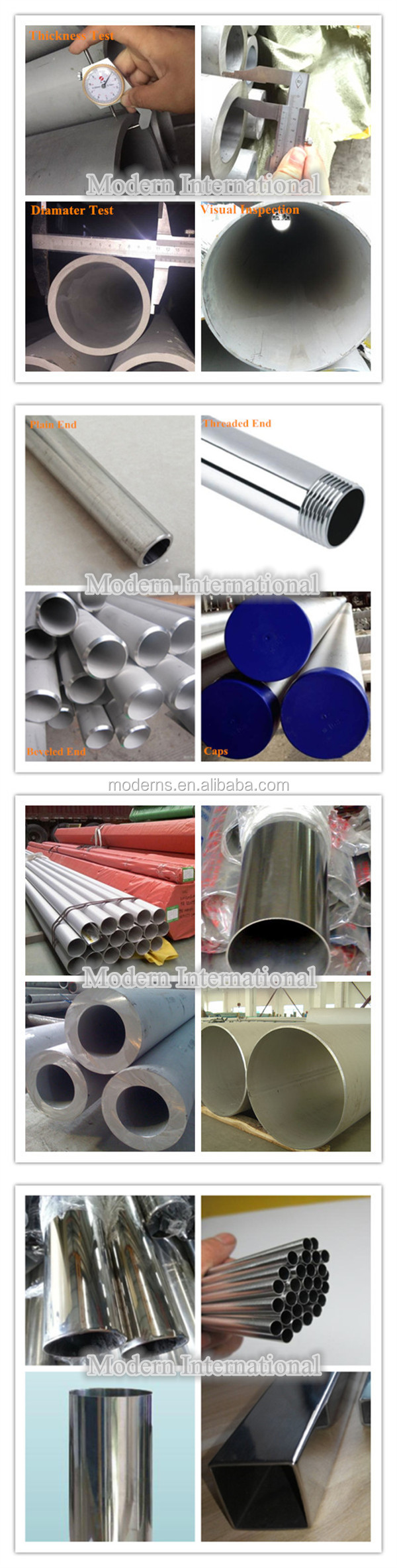 201 Half Finished Round Telescopic Stainless Steel Tube