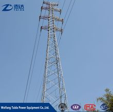Hot seiling 3 Legged Power Transmission Line galvanized steel pole/electrical pole/angle tower