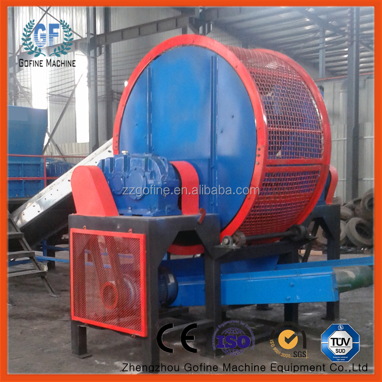 waste car tire recycling production line/plant tire recycling machine