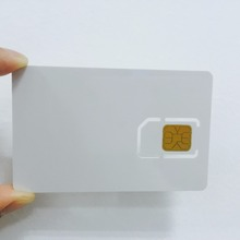 SLE4442 custom printable pvc blank sim chip card