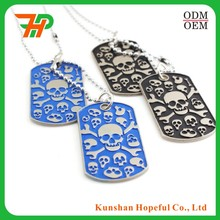 custom cheap zinc alloy skull shape dog tag silencers pet tag silencers