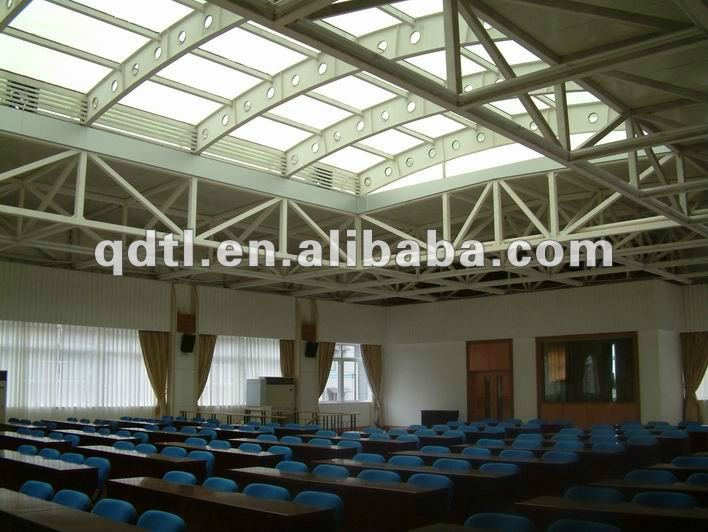 Top light Steel frame structure space tube truss