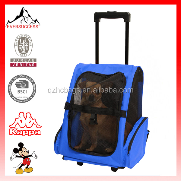 Newly Designed 2016 Model Cat/ Dog Comfort Travel Portable Rolling Backpack(ES-Z347)