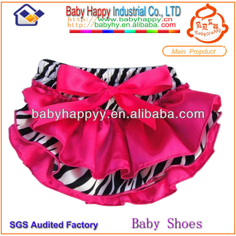Wholesale 2015 new style zebra hot pink baby bloomer