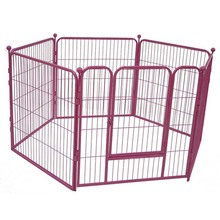Large outdoor galvanized metal dog playpen dog run pet enclosure with roof or not