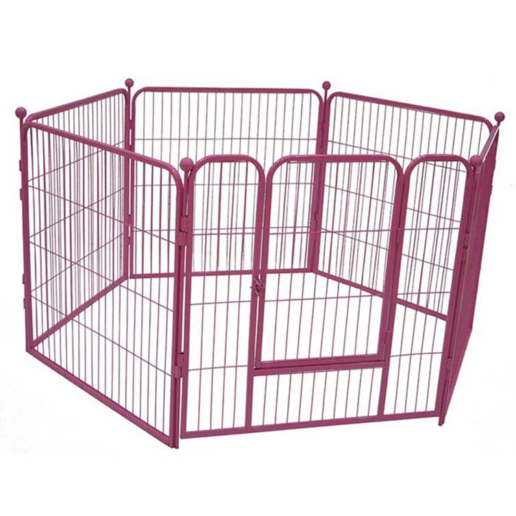 Large outdoor metal dog playpen dog run pet enclosure with roof or not