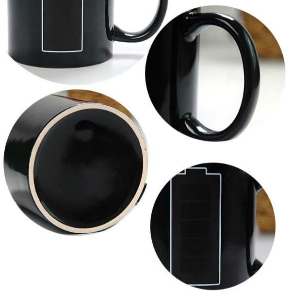 Chinese Suppliers selling Home & Garden Drinkware Black Color Coffee Cup Ceramic Mug with Have a Nice Day Middle Finger Pattern
