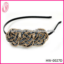 Hot Sale Cheap Crochet Thin Headband For Infant Baby