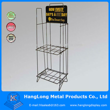 Metal wire newspaper display stand