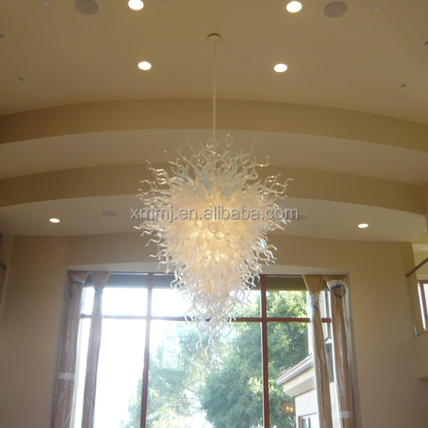 Hand blown art foyer decorative glass material modern chandelier murano