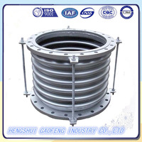 Pipe vibration isolator double bellows expansion joints/metallic compensator
