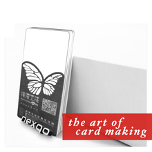 Custom plastic PVC transparent hard business card