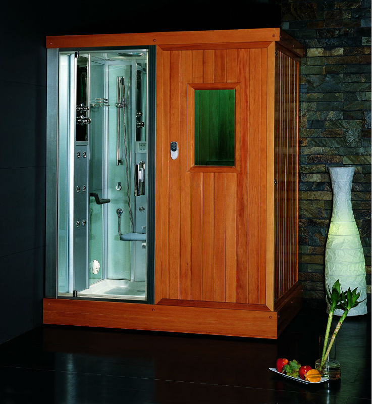 EAGO infrared sauna room with steam shower DS204F8 sauna combos