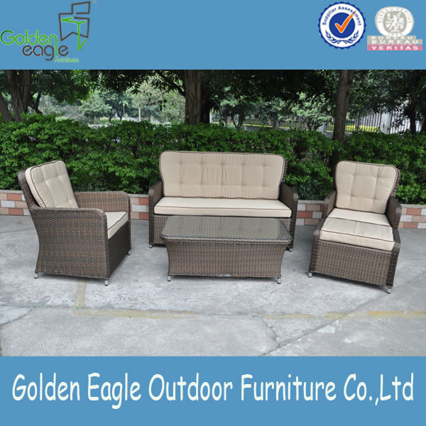 4pcs Rattan Sofa of golden rattan