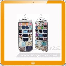 Hanging Closet Dual-sided Organizers Bra Underwear Socks Ties Hanging Storage 42 Pockets