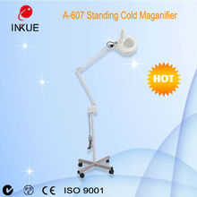 A-607 flexible metal LED Cold Light Magnifying Lamp with Stand Magnifying Lamp LED