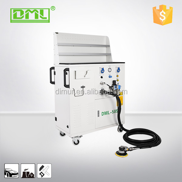 Centralized dust collector system/dry glass polishing machine