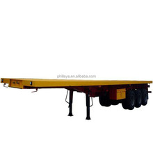 40ft /20ft truck prime mover with trailer for container transportation with flatbed chassis