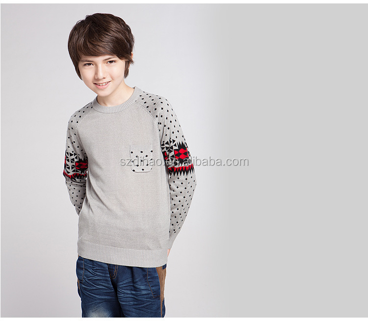 2014 newest wool knitting sweater design for boys colors