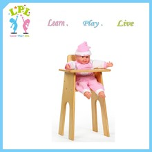 Fashion doll hourse wooden furniture baby doll high chair