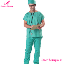Halloween cosplay operating theatre green doctor costume for men