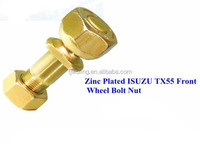 Zinc Plated ISU ZU TX55 Front Wheel Bolt and Nut 10.9grade hub bolt