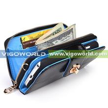 Magnetic Clutch Wallet for Samsung Galaxy S4 i9500 leather mobile case