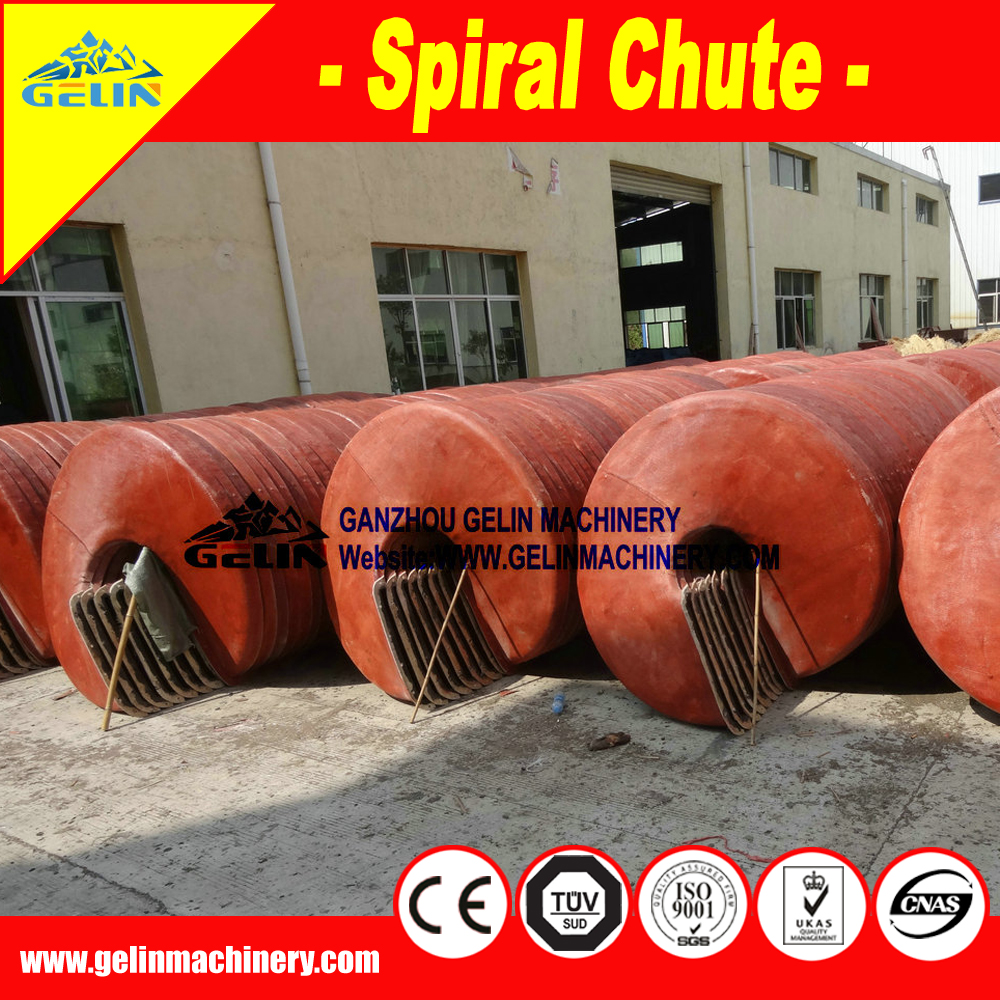 Gold Recovery Gravity Spiral Chute Separator for Gold Mining Spiral Chute
