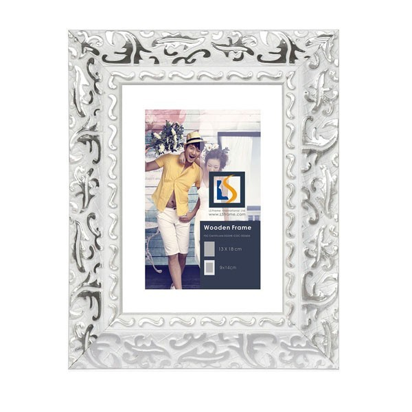 Customized Size Silver frame wall abstract oil paintings fotos photo picture frame