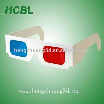 red blue cyan paper 3d glasses disposable cardboard 3d glasses