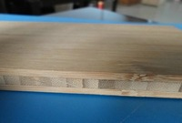 Horizontal 3-layers compressed fiber cutting board bamboo pizza wall panel
