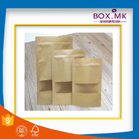 Recycle Stand Up Kraft Navy Blue Paper Bag With Window